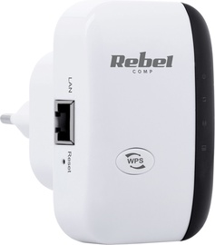 Rebel Wi-Fi Network Signal Repeater White