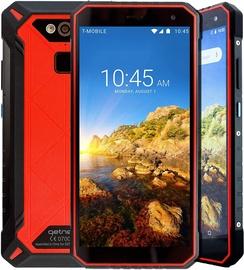 Mobilais telefons Getnord Leo, melna/sarkana, 4GB/64GB