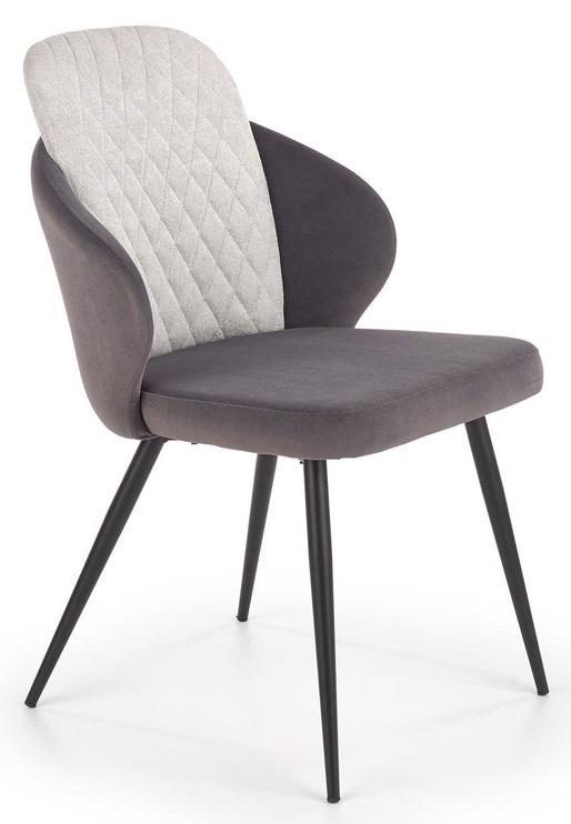 Ēdamistabas krēsls Halmar K408 Light/Dark Grey