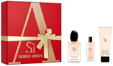 Sieviešu smaržu komplekts Giorgio Armani Si 50 ml EDP + 75 ml Body Lotion + 15 ml EDP