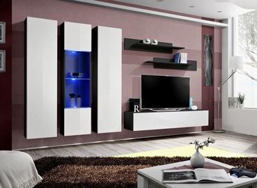 Dzīvojamās istabas mēbeļu komplekts ASM Fly C5, melna
