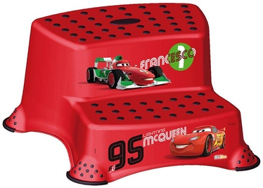 Pakāpiena soliņš Keeeper Baby Double Step Stool Disney Cars, sarkana