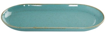 Porland Seasons Oval Plate 15x30cm Turquoise