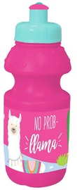 Must Plastic Bottle 350ml Pink With Llama