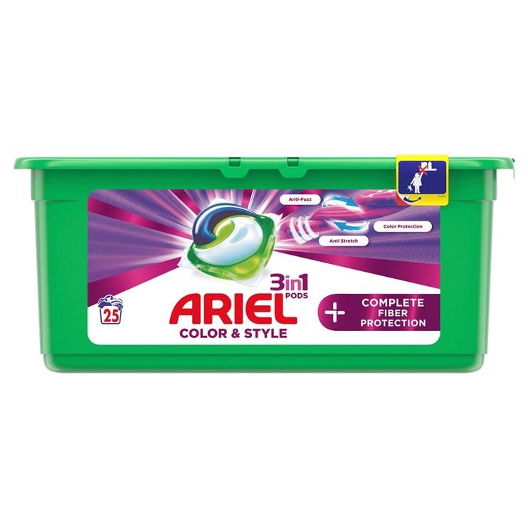Kapsulas mazgāšanai Ariel Color&Style, 25 gab.