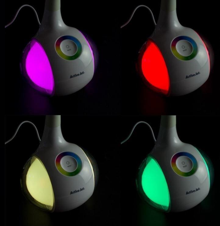 Gaismeklis ActiveJet Lamp RGB 6W White