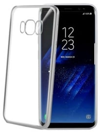 Celly Laser Back Case For Samsung Galaxy S8 Plus Silver
