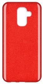 Wozinsky Glitter Shining Back Case For Samsung Galaxy A6 Plus Red