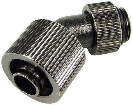 Aquatuning 16/10mm Compression Fitting 45° Revolvable G1/4 Black Nickel