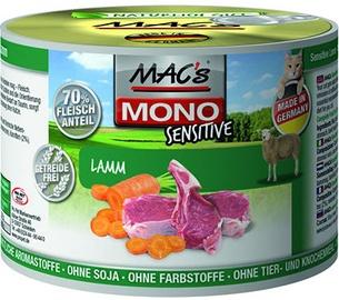 Mac's Mono Sensitive Lamb & Carrots 200g