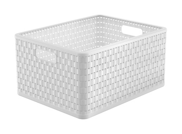 Ящик Rotho Storage Box Country With Handles A4 Plus 43x33x21.5cm White