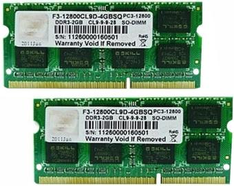 Operatīvā atmiņa (RAM) G.SKILL F3-12800CL9D-8GBSQ DDR3 (SO-DIMM) 8 GB CL9 1600 MHz