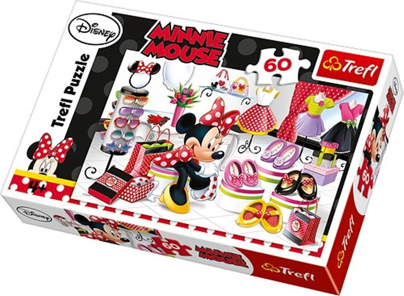 Пазл Trefl Disney Minnie Mouse Shopping 17225T, 60 шт.