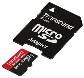 Карта памяти Transcend 64GB Micro SDXC Premium UHS-I Class 10 + Adapter