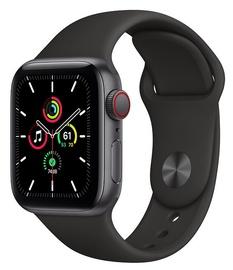Viedais pulkstenis Apple Watch SE GPS + Cellular 40mm Sport Band, melna/pelēka