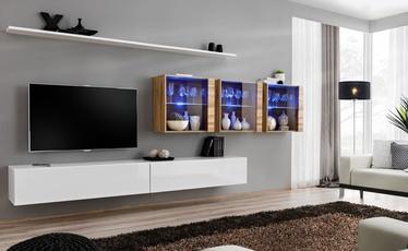 ASM Switch XVII Wall Unit White/Wotan Oak