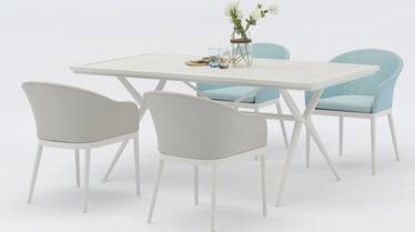 Āra mēbeļu komplekts Masterjero J1143+J2291, balts, 1-4 sēdvietas