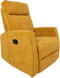 Atzveltnes krēsls Home4you Eddy 13855, dzeltena, 76x96x103 cm