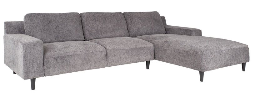 Stūra dīvāns Home4you Hilde Grey, labais, 288 x 173 x 88 cm