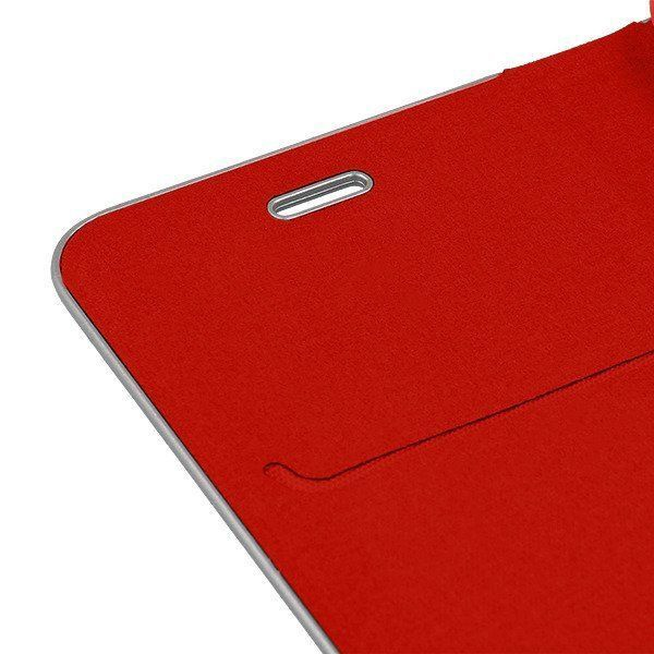 Mocco Carbon Leather Book Case For Apple iPhone 7/8 Red