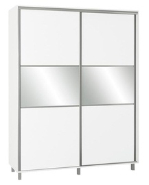 Skapis Bodzio SZP180W White, 180x60x240 cm, with mirror