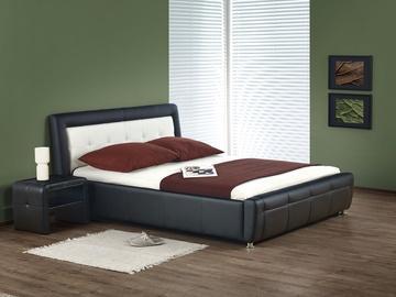 Кровать Halmar Samanta Black/White, 160 x 200 cm