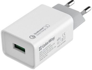 ColorWay Quick Charge 3.0 Charger CW-CHS013Q-WT