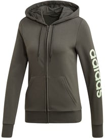 Adidas Essentials Linear Womens Hoodie FJ5386 Khaki S