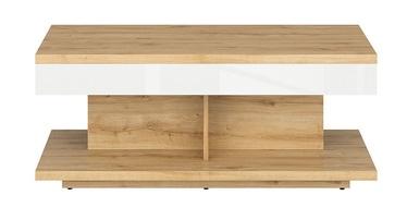 Kafijas galdiņš Black Red White Erla White/Oak, 1100x600x455 mm