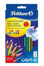 Цветные карандаши Pelikan Water Soluble Coloured Pencils 12pcs