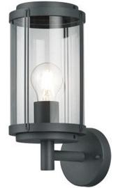 Trio Tanaro antracīta sienas lampa, IP44, 1x E27