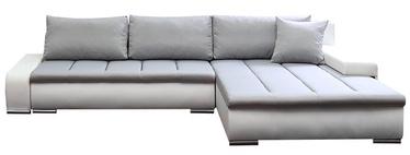 Stūra dīvāns Platan Tivano White/Gray, 302 x 213 x 80 cm