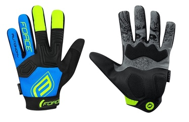 Force MTB Autonomy 17 Full Gloves Blue/Black M