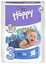 Autiņbiksītes Bella Baby Happy Midi, 3, 52 gab.