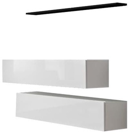 ASM Switch SB II Hanging Cabinet/Shelf Set White/Black Shelf