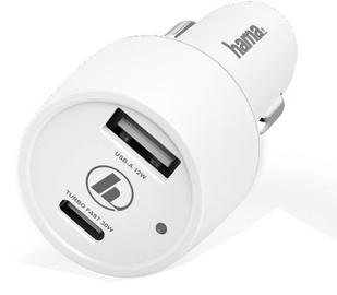 Hama USB/USB Type-C Qualcomm Car Charger White