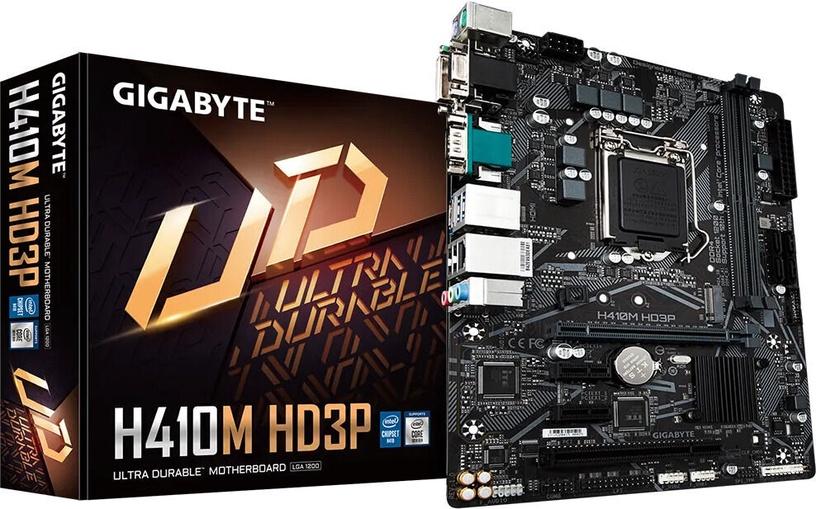 Mātesplate Gigabyte H410M HD3P