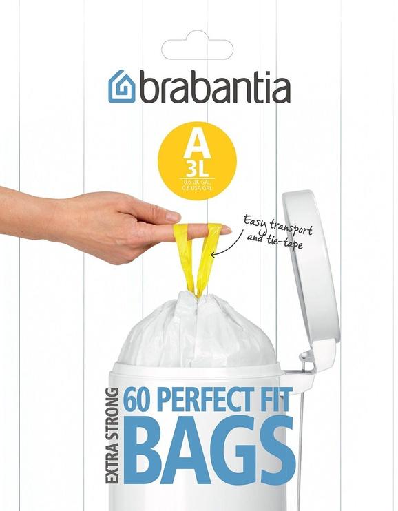 Мешки для мусора Brabantia PerfectFit, 3 л, 60 мешков (код А), White