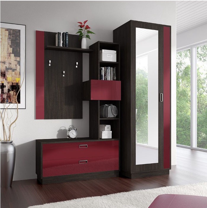 Idzczak Meble Zac Hallway Unit Oak/Red