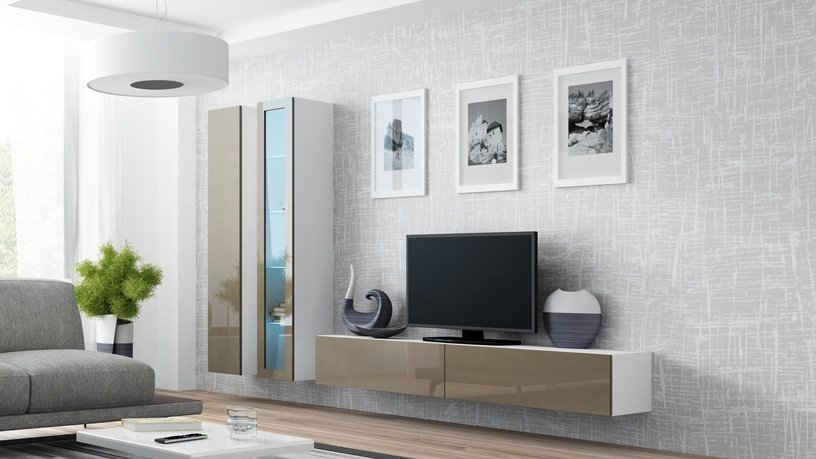 Cama Meble Vigo 180 Full Cabinet White/Latte Gloss