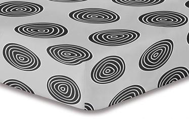 Простыня DecoKing Hypnosis, черный/серый, 220x240 см, на резинке