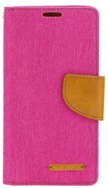 Mocco Canvas Book Case For Samsung Galaxy J4 J400 Pink