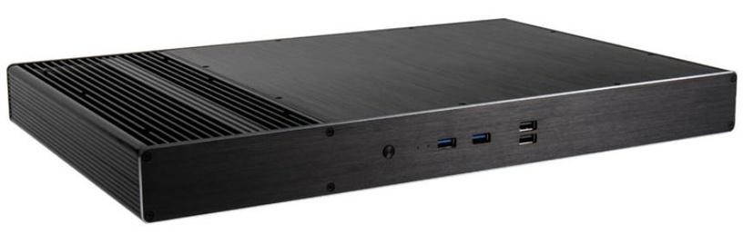 Akasa Galileo TU2 Thin-Mini-ITX Case Black