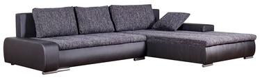 Stūra dīvāns Platan Tivano Black/Dark Gray, 302 x 213 x 80 cm