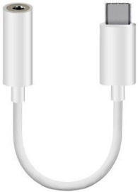 Adapteris Mocco CM20 3.5mm To USB-C Adapter White