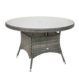 Dārza galds Home4you Geneva Grey, 120 x 120 x 76 cm