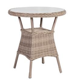 Dārza galds Home4you Toscana Beige, 65 x 65 x 73 cm