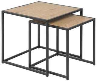 Kafijas galdiņš Home4you Seaford Oak, 500x500x450 mm