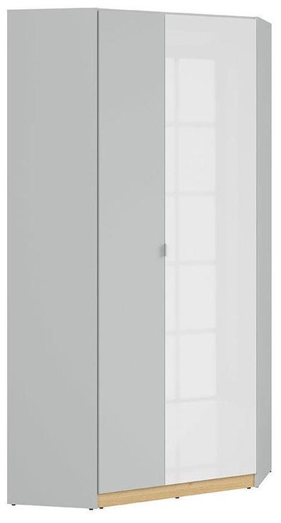 Skapis Black Red White Nandu, balta/pelēka/ozola, 93x93x200.5 cm