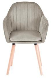 Ēdamistabas krēsls Homede Lacelle, smilškrāsas